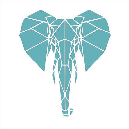 Geometric Elephant Stencil