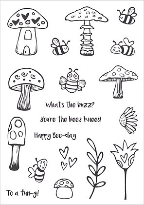 Bees Knees Clear Stamp Set - A5