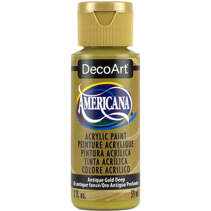 Deco Art Americana Acrylic Paint - Antique Gold Deep