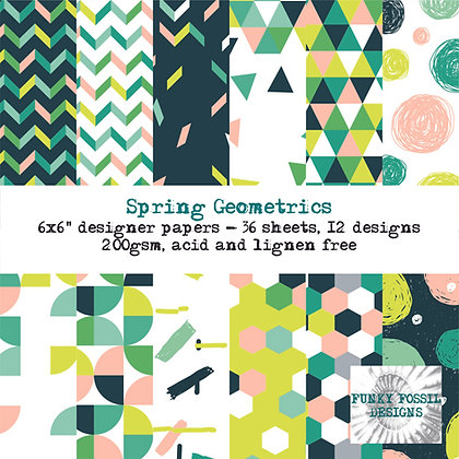 Spring Geometrics 6x6 paper pad