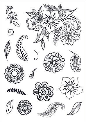 Funky Florals Stamp Set