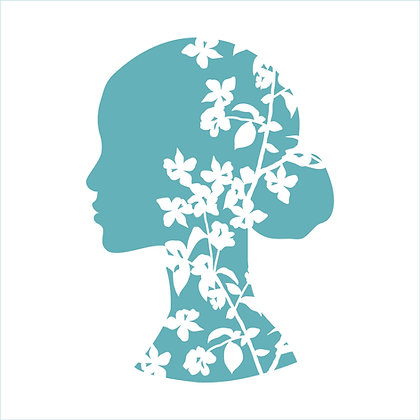 Floral Beauty Stencil