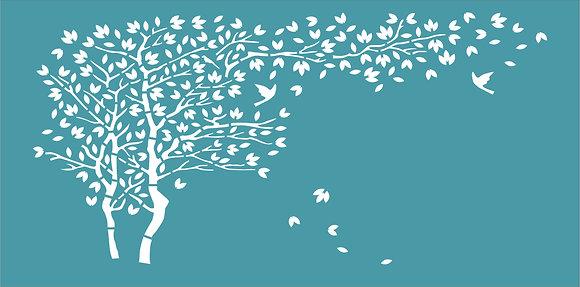 Slimline Windy Day Stencil
