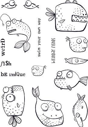 Weird Fish A5 stamp set