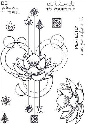Lotus Reflections - A6 clear photopolymer stamp set