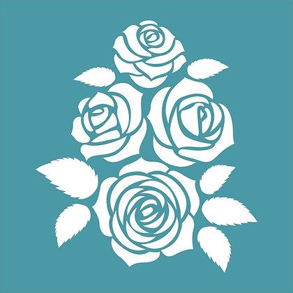 Rose Bouquet Stencil
