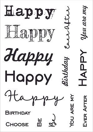 Happy Words Stamp Set