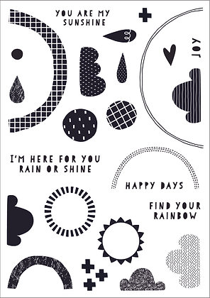 Find Your Rainbow A5 stamp set