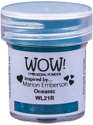 Wow! Oceanic Embossing Powder inspired by Marion Emberson
