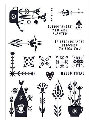 Scandi Garden Clear Stamp Set - A5