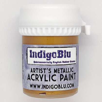 IndigoBlu Artist Metallic Acrylic Paint - Goldfinger, 20ml