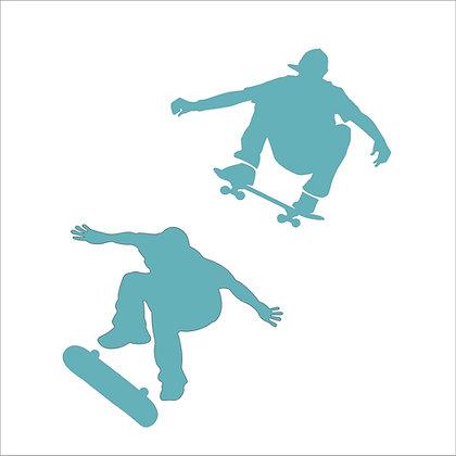Skateboarders Stencil