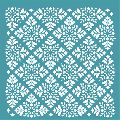 Folk Floral Wallpaper