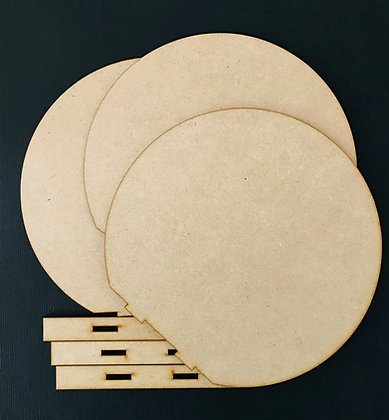 MDF Round Art Boards x 3