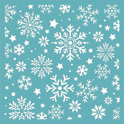 Snow Flurry Stencil