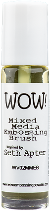 Wow! Mixed Media Embossing Brush inspired by Seth Apter
