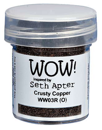 Wow! Embossing Powder - Crusty Copper inspired by Seth Apter