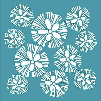 Urchins Stencil