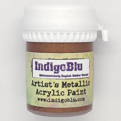 IndigoBlu Artist Metallic Acrylic Paint - Pheasant Bronze, 20ml