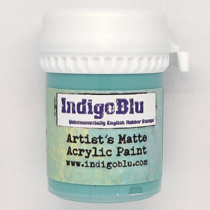 IndigoBlu Artist Matte Acrylic Paint - Townhouse Teal, 20ml