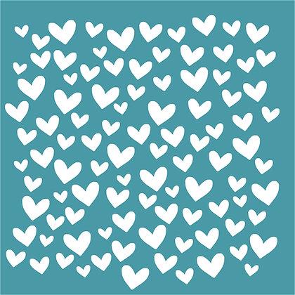 Sweet Hearts Stencil