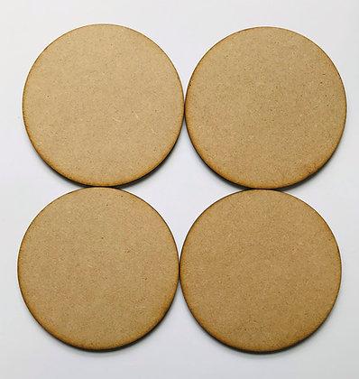MDF Coasters - Set of 4