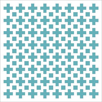 Geometric Crosses Stencil