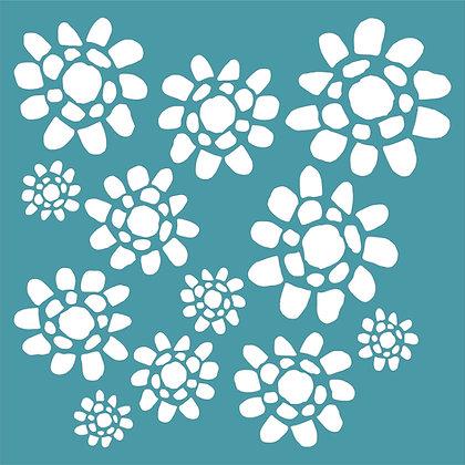 Woodcut Flowers by Zinski Art