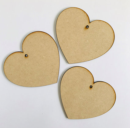 Curved Hanging Heart x 3