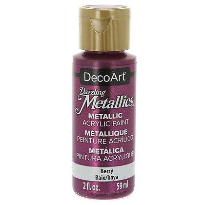 Deco Art Dazzling Metallics Acrylic Paint - Berry