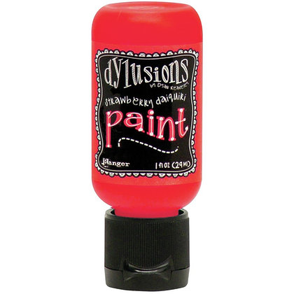 Dylusions Paint - Strawberry Daiquiri, 1oz bottle