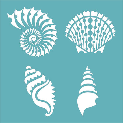 Four Shells Stencil