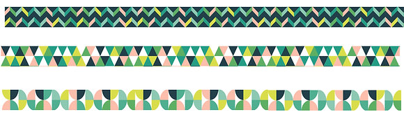 Spring Geometrics Washi Tape - set of 3 rolls