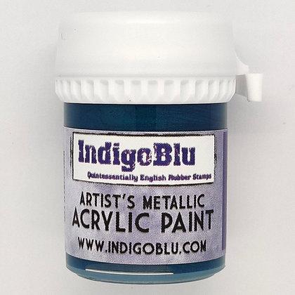 IndigoBlu Artist Metallic Acrylic Paint - Merlin, 20ml