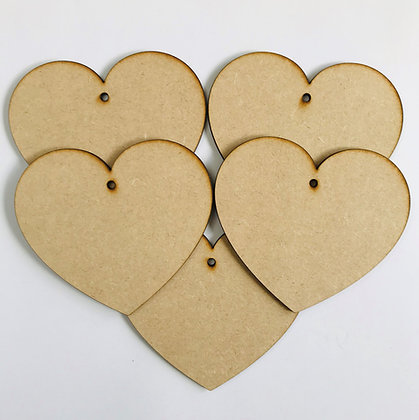 Curved Hanging Heart x 5