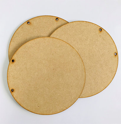 Set of 3 round MDF hanging plaques - large