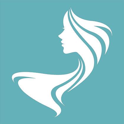 Beauty in Profile Stencil