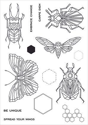 Geo Bugs A5 Stamp Set