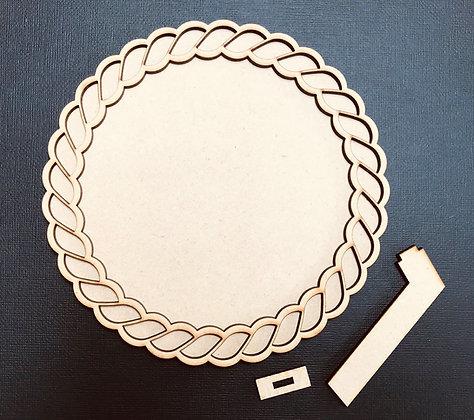MDF Rope Effect Circular Frame