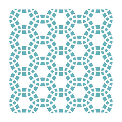 Mosaic Circles Stencil