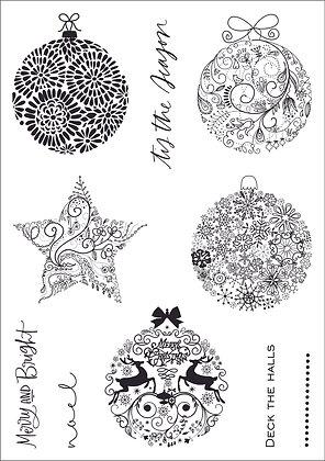 Elegant Ornaments A5 Clear Stamp Set