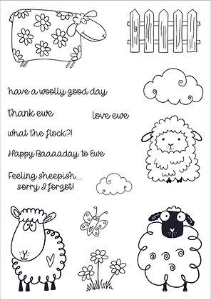 Feeling Sheepish A5 Clear Stamp Set