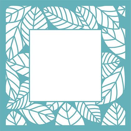 Leafy Frame Stencil