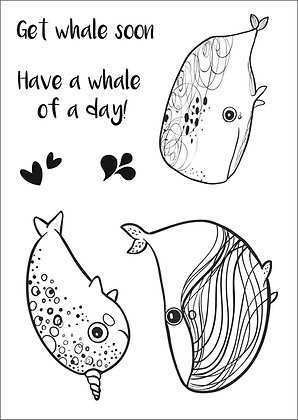 Whale of a Time Clear Stamp Set