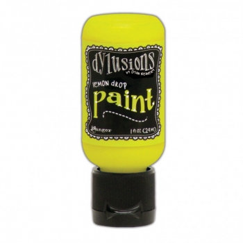 Dylusions Paint - Lemon Drop, 1oz bottle