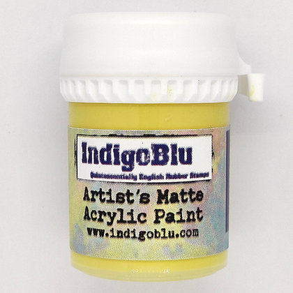 IndigoBlu Artist Matte Acrylic Paint - Banana Custard, 20ml