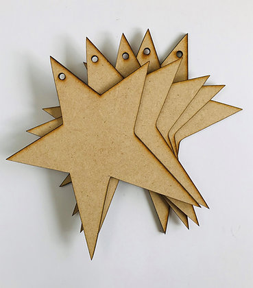 Primitive Hanging Star x 5