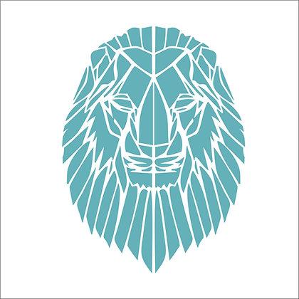 Geometric Lion Stencil