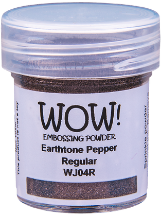 Wow! Earthtone Pepper Regular Embossing Powder - 15ml jar