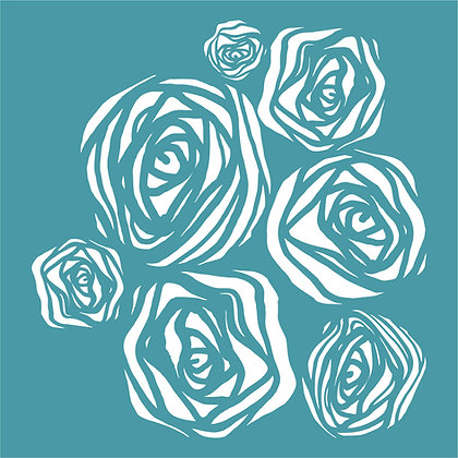 Grungy Roses by Zinski Art